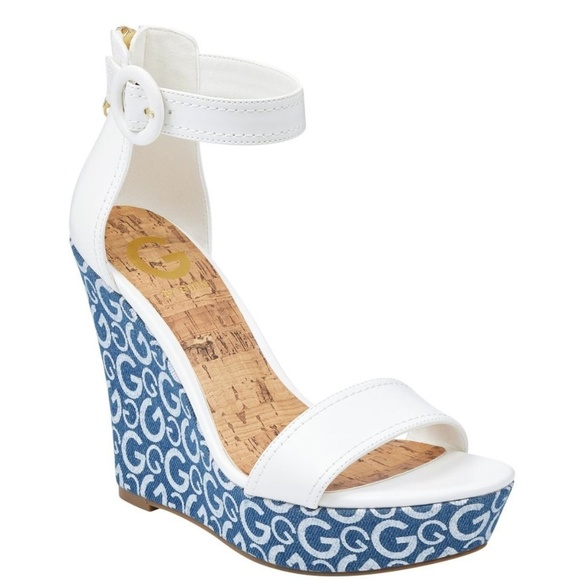 710d5a354eb G by GUESS Donny Logo Wedges 9